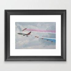 Virgin Atlantic with the Red Arrows Framed Art Print