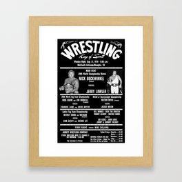 #3-B Memphis Wrestling Window Card Framed Art Print
