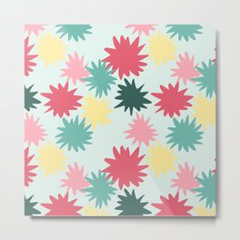Rainbow star burst Metal Print
