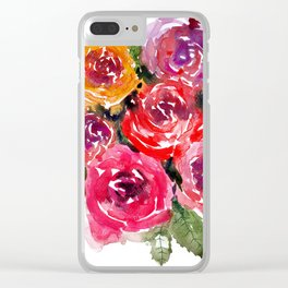 Rosey Clear iPhone Case