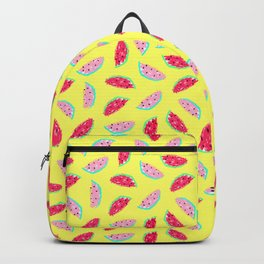 Watermelon Toss in Banana Yellow Backpack