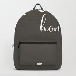 Hawaii is Home - White on Charcoal Backpack