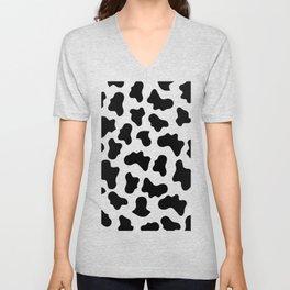 Moo Cow Print Unisex V-Neck