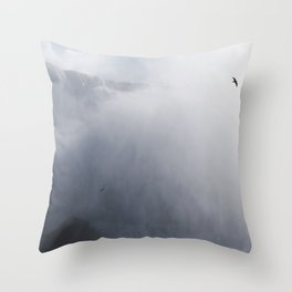 From below where all the water falls, Niagara 02 Throw Pillow