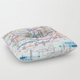 Tokyo Subway Map Floor Pillow