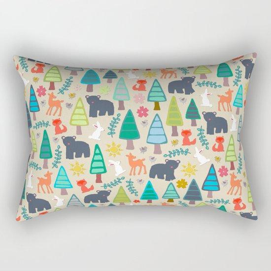 summer woodland Rectangular Pillow