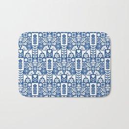 Swedish Folk Art - Blue Bath Mat