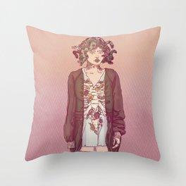 Gorgo Lady Throw Pillow
