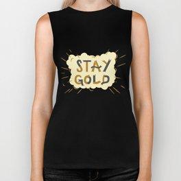 Stay Gold Print Biker Tank