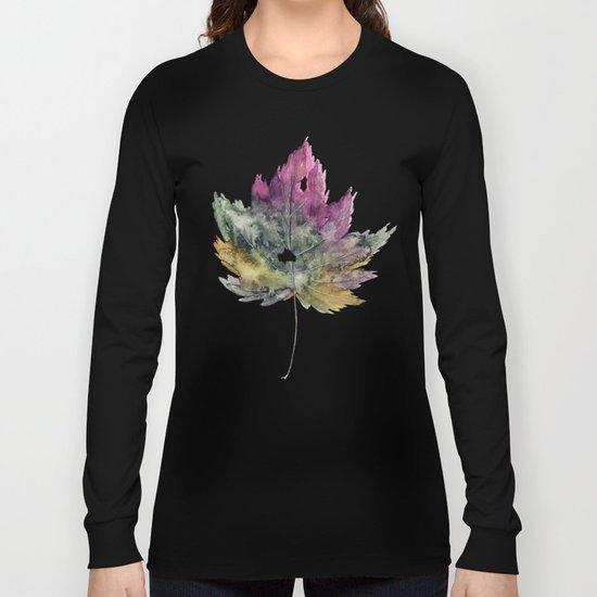 Maple Pattern Long Sleeve T-shirt