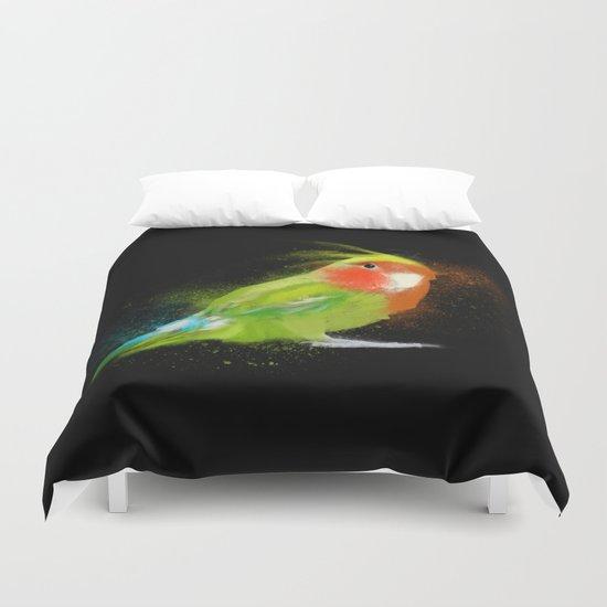 Parrot nebula Duvet Cover