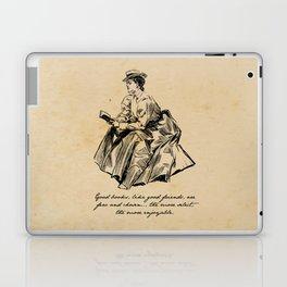 Lousia May Alcott - Good Books Laptop & iPad Skin