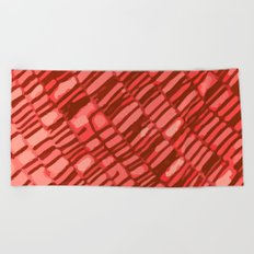red structure Beach Towel
