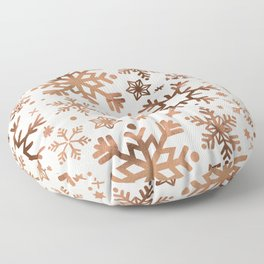 Snowflake Collection – Rose Gold Palette Floor Pillow