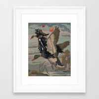 thegnarledbranch Framed Art Prints featuring Leaving the Party by TheGnarledBranch