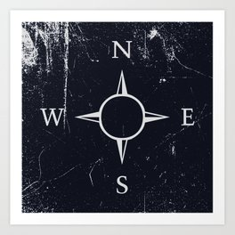 Dark compass Art Print