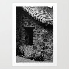 Fern Cottage Art Print