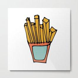 Fry Chips Metal Print