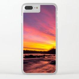Pony Pasture Sunrise Clear iPhone Case