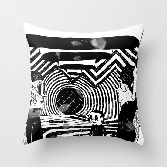"""Reflektor"" by Steven Fiche Throw Pillow"
