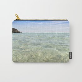 Clear blue, Pedn Vounder Beach, Cornwall Carry-All Pouch