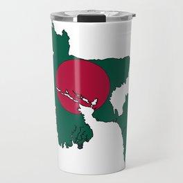 Bangladesh Map with Bangladeshi Flag Travel Mug