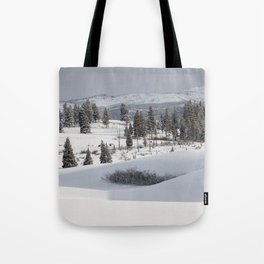Yellowstone National Park - Blacktail Deer Plateau Panorama Tote Bag