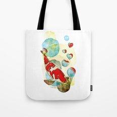 Koi Fish In Love Tote Bag