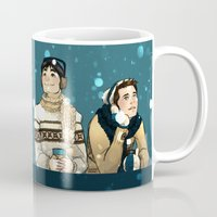 kevin russ Mugs featuring Kevin & Cas - Supernatural by Justyna Rerak