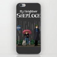 johnlock iPhone & iPod Skins featuring My neighbor Sherlock by AcidBurn