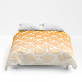 Mermaid Scales / Orange Wave Pattern / Nature / Sunflower / Happiness / Pillow / Mountains Comforters