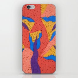 Orange Desert Flowering Abstract iPhone Skin