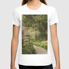 Photos USA Portland Japanese Gardens  Oregon Nature Bush Trees Shrubs T-shirt