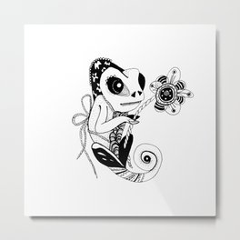 Rock Wild Chameleon Be yourself Metal Print