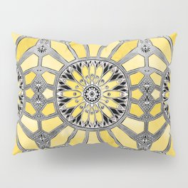 Sunny Yellow Radiant Watercolor Pattern Pillow Sham