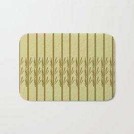 Exotic design bamboos Bath Mat