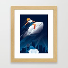 The Big Game Framed Art Print