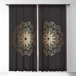 Gold Mandala Blackout Curtain