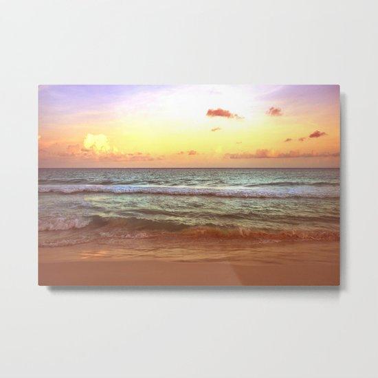 beacH Sunrise Sunset Metal Print