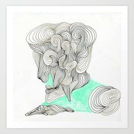 the  lined man Art Print
