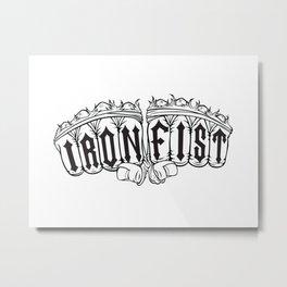 Iron Fist Metal Print