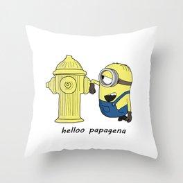 hello papagena Throw Pillow