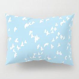 Happy Birds Aqua Pillow Sham