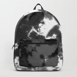 Splattered Black and White Tie Dye Backpack