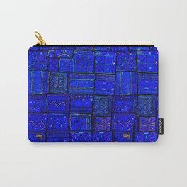 N17 - Calm Indigo Blue Boho Traditional Moroccan Artwork Carry-All Pouch