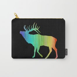 Rainbow Watercolor Dripping Elk II Carry-All Pouch