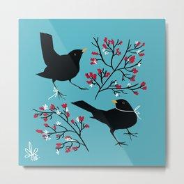 Blackbirds Metal Print