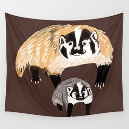American badger Wall Tapestry