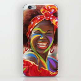 Life's a Carnival (Carnaval de Barranquilla) - Negrita Puloy Impressionism - Magical Realism iPhone Skin