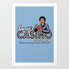 Lando's Casino Art Print